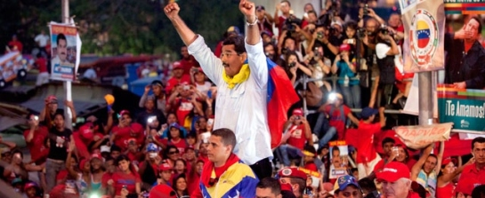 Nicolás Maduro at closing campaign rally in Caracas